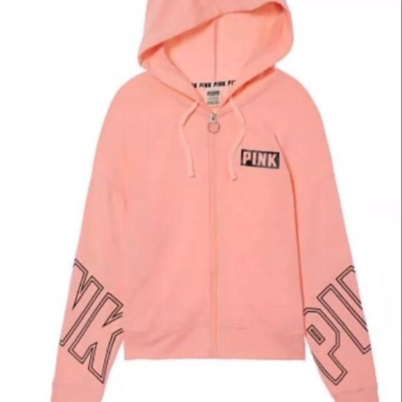 d5c2af28ba255 VS Pink Zip Up Hoodie *READ DESCRIPTION*